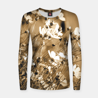 Miniatur Dreamy, sepia colors wild meadow flowers photography Women sweater, Live Heroes