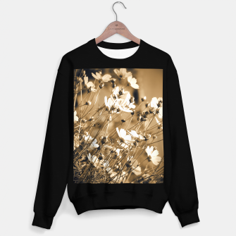 Miniatur Dreamy, sepia colors wild meadow flowers photography Sweater regular, Live Heroes