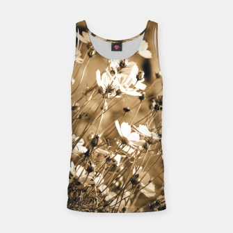Miniatur Dreamy, sepia colors wild meadow flowers photography Tank Top, Live Heroes
