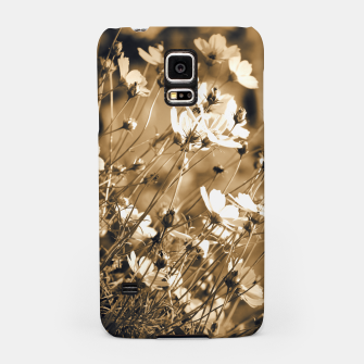 Miniatur Dreamy, sepia colors wild meadow flowers photography Samsung Case, Live Heroes