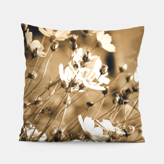 Miniatur Dreamy, sepia colors wild meadow flowers photography Pillow, Live Heroes
