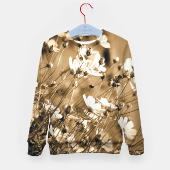 Miniatur Dreamy, sepia colors wild meadow flowers photography Kid's sweater, Live Heroes