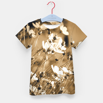 Miniatur Dreamy, sepia colors wild meadow flowers photography Kid's t-shirt, Live Heroes