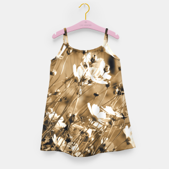 Miniatur Dreamy, sepia colors wild meadow flowers photography Girl's dress, Live Heroes