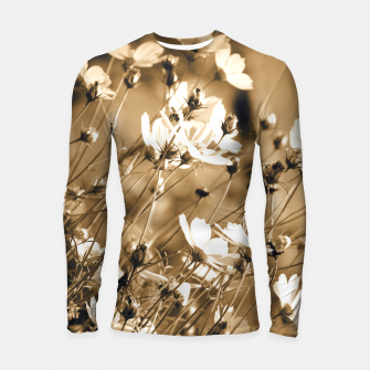 Miniatur Dreamy, sepia colors wild meadow flowers photography Longsleeve rashguard , Live Heroes