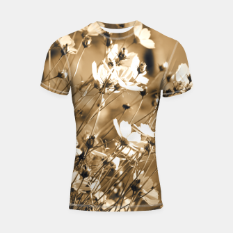 Miniatur Dreamy, sepia colors wild meadow flowers photography Shortsleeve rashguard, Live Heroes