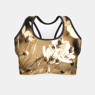Miniatur Dreamy, sepia colors wild meadow flowers photography Crop Top, Live Heroes