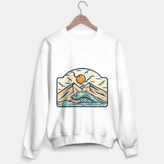 Miniatur Mountain and Wave Sweater regular, Live Heroes