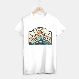 Miniatur Mountain and Wave T-shirt regular, Live Heroes