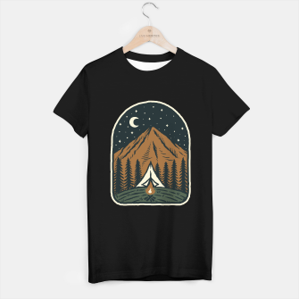 Miniatur Camp Mountain Night T-shirt regular, Live Heroes