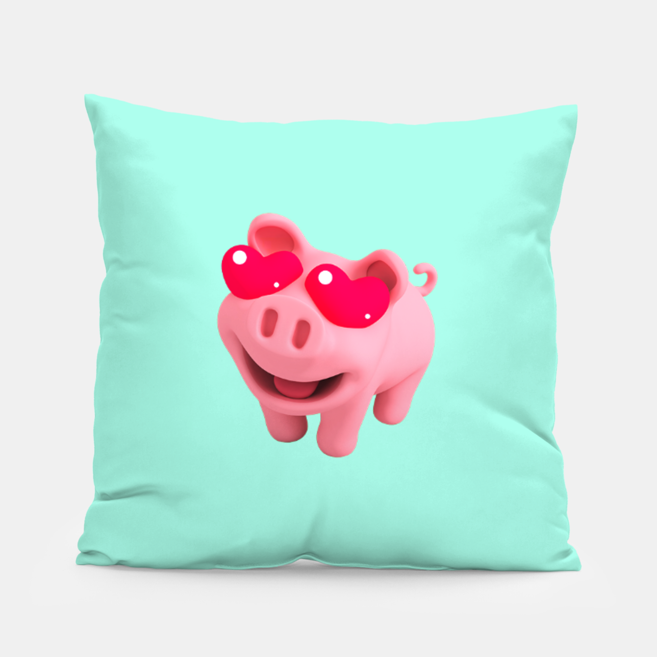 Image of Rosa Heart Eyes Green Pillow - Live Heroes