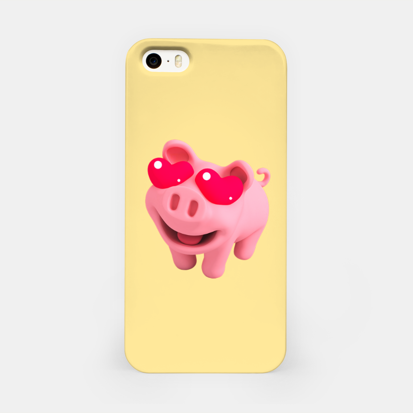 Image of Rosa Heart Eyes Yellow iPhone Case - Live Heroes