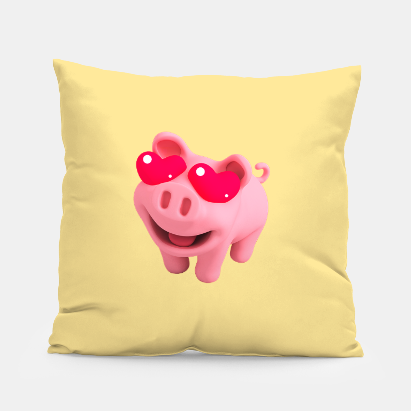 Image of Rosa Heart Eyes Yellow Pillow - Live Heroes