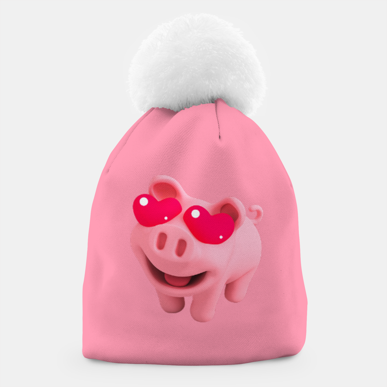 Image of Rosa Heart Eyes Pink Beanie - Live Heroes