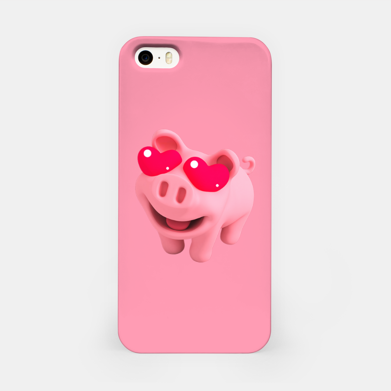 Image of Rosa Heart Eyes Pink iPhone Case - Live Heroes
