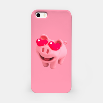 Rosa Heart Eyes Pink iPhone Case thumbnail image