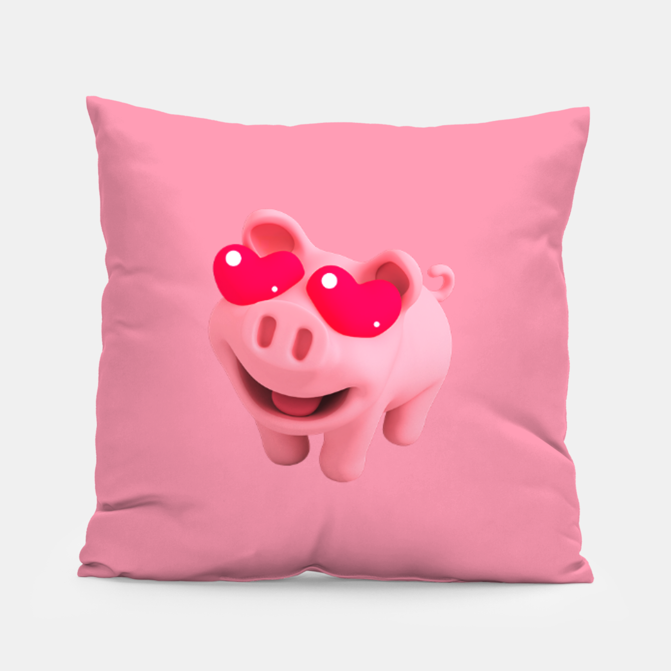 Image of Rosa Heart Eyes Pink Pillow - Live Heroes