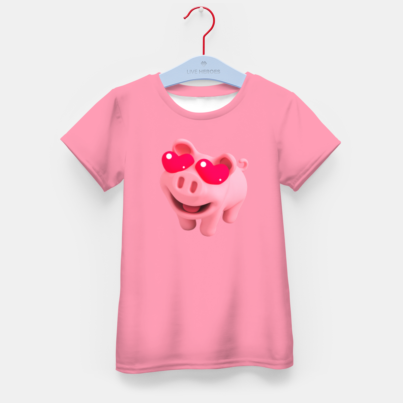 Image of Rosa Heart Eyes Pink Kid's t-shirt - Live Heroes