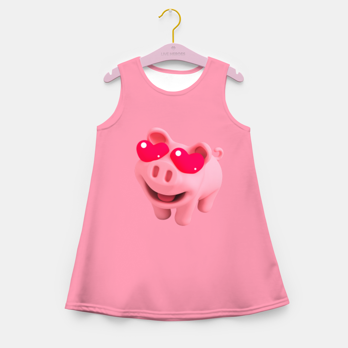 Image of Rosa Heart Eyes Pink Girl's summer dress - Live Heroes
