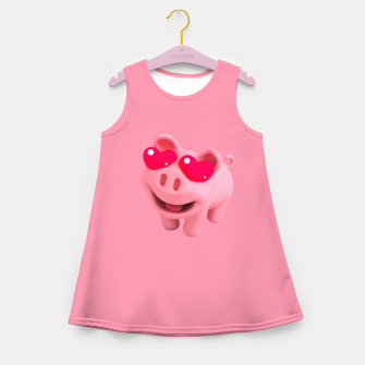 Rosa Heart Eyes Pink Girl's summer dress thumbnail image