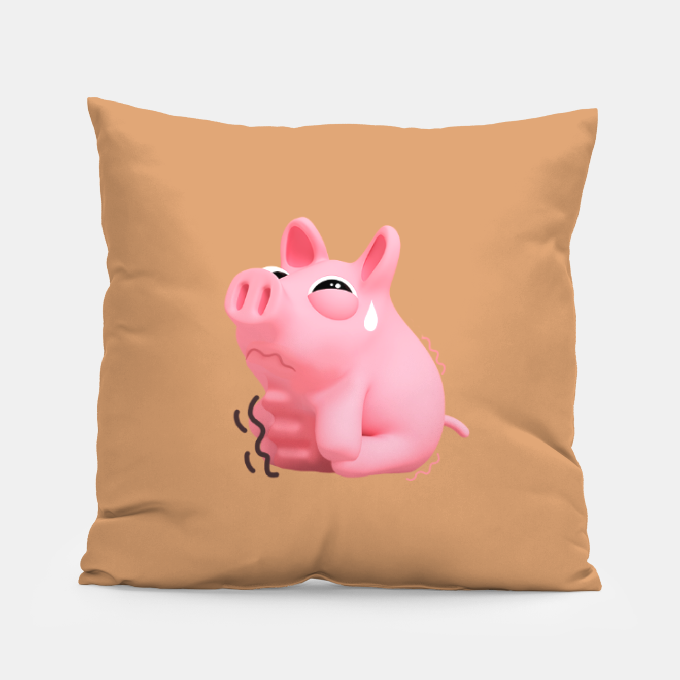 Image of Rosa hungry Brown Pillow - Live Heroes