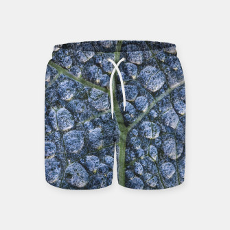 Thumbnail image of Cool water drops dew texture leaf Swim Shorts, Live Heroes