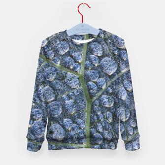 Thumbnail image of Cool water drops dew texture leaf Kid's sweater, Live Heroes