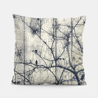 Miniatur Black and White Botanical Motif Artwork Pillow, Live Heroes