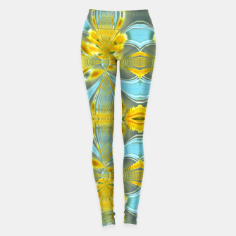 Peacock sunrise 1877 Leggings miniature