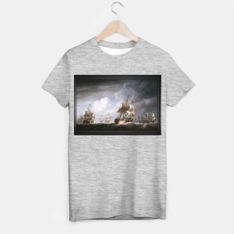 Thumbnail image of A Fleet Of East Indiamen At Sea by Nicholas Pocock T-shirt regular, Live Heroes