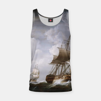 Thumbnail image of A Fleet Of East Indiamen At Sea by Nicholas Pocock Tank Top, Live Heroes