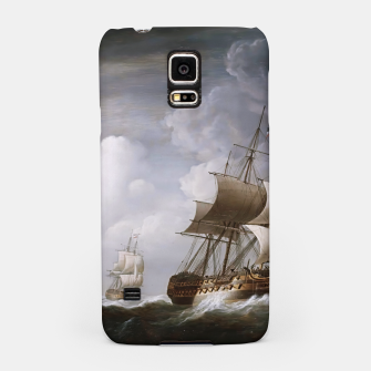 Thumbnail image of A Fleet Of East Indiamen At Sea by Nicholas Pocock Samsung Case, Live Heroes