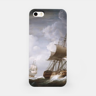 Thumbnail image of A Fleet Of East Indiamen At Sea by Nicholas Pocock iPhone Case, Live Heroes