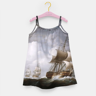 Imagen en miniatura de A Fleet Of East Indiamen At Sea by Nicholas Pocock Girl's dress, Live Heroes