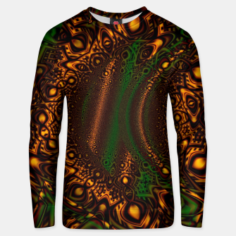 Thumbnail image of Emerald Gold Vortex Mapping Abstract Digital Art Unisex sweater RL90, Live Heroes