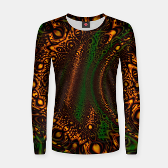Thumbnail image of Emerald Gold Vortex Mapping Abstract Digital Art Women sweater, Live Heroes