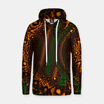 Thumbnail image of Emerald Gold Vortex Mapping Abstract Digital Art Hoodie RL90, Live Heroes