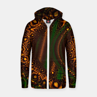 Thumbnail image of Emerald Gold Vortex Mapping Abstract Digital Art Zip up hoodie RL90, Live Heroes