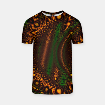 Thumbnail image of Emerald Gold Vortex Mapping Abstract Digital Art T-shirt RL90, Live Heroes