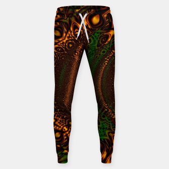 Thumbnail image of Emerald Gold Vortex Mapping Abstract Digital Art Sweatpants RL90, Live Heroes
