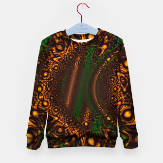 Thumbnail image of Emerald Gold Vortex Mapping Abstract Digital Art Kid's sweater RL90, Live Heroes