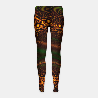 Thumbnail image of Emerald Gold Vortex Mapping Abstract Digital Art Girl's leggings RL90, Live Heroes