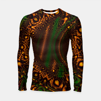 Thumbnail image of Emerald Gold Vortex Mapping Abstract Digital Art Longsleeve rashguard  RL90, Live Heroes