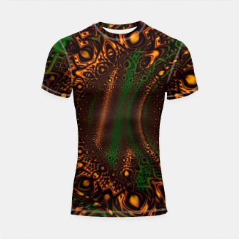 Thumbnail image of Emerald Gold Vortex Mapping Abstract Digital Art Shortsleeve rashguard RL90, Live Heroes