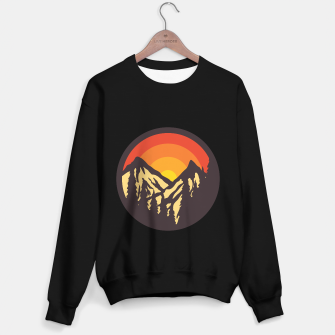 Miniatur Mountain Sunset Sweater regular, Live Heroes