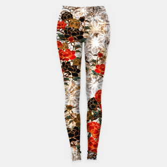 Thumbnail image of Japanese crest art Peony Leggings, Live Heroes