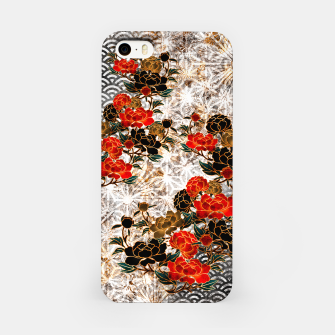 Miniaturka Japanese crest art Peony iPhone Case, Live Heroes
