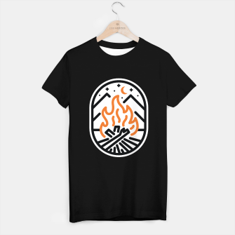 Miniatur Camp Fire T-shirt regular, Live Heroes
