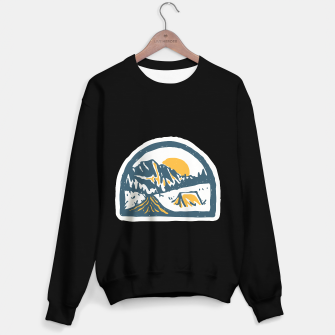 Miniatur Camping Hand Drawn Sweater regular, Live Heroes