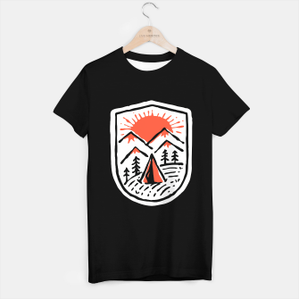 Miniatur Sunset Camp Hand Drawn T-shirt regular, Live Heroes